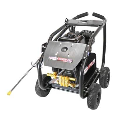 SuperPro Roll-Cage 4400 PSI at 4.0 GPM 420 cc Engine with AAA Triplex Plunger Pump Cold Water Gas Pressure Washer
