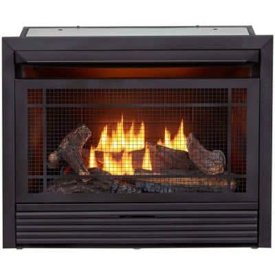 Duluth Forge Dual Fuel Ventless Gas Fireplace Insert - 26,000 BTU, Remote Control FDF300R