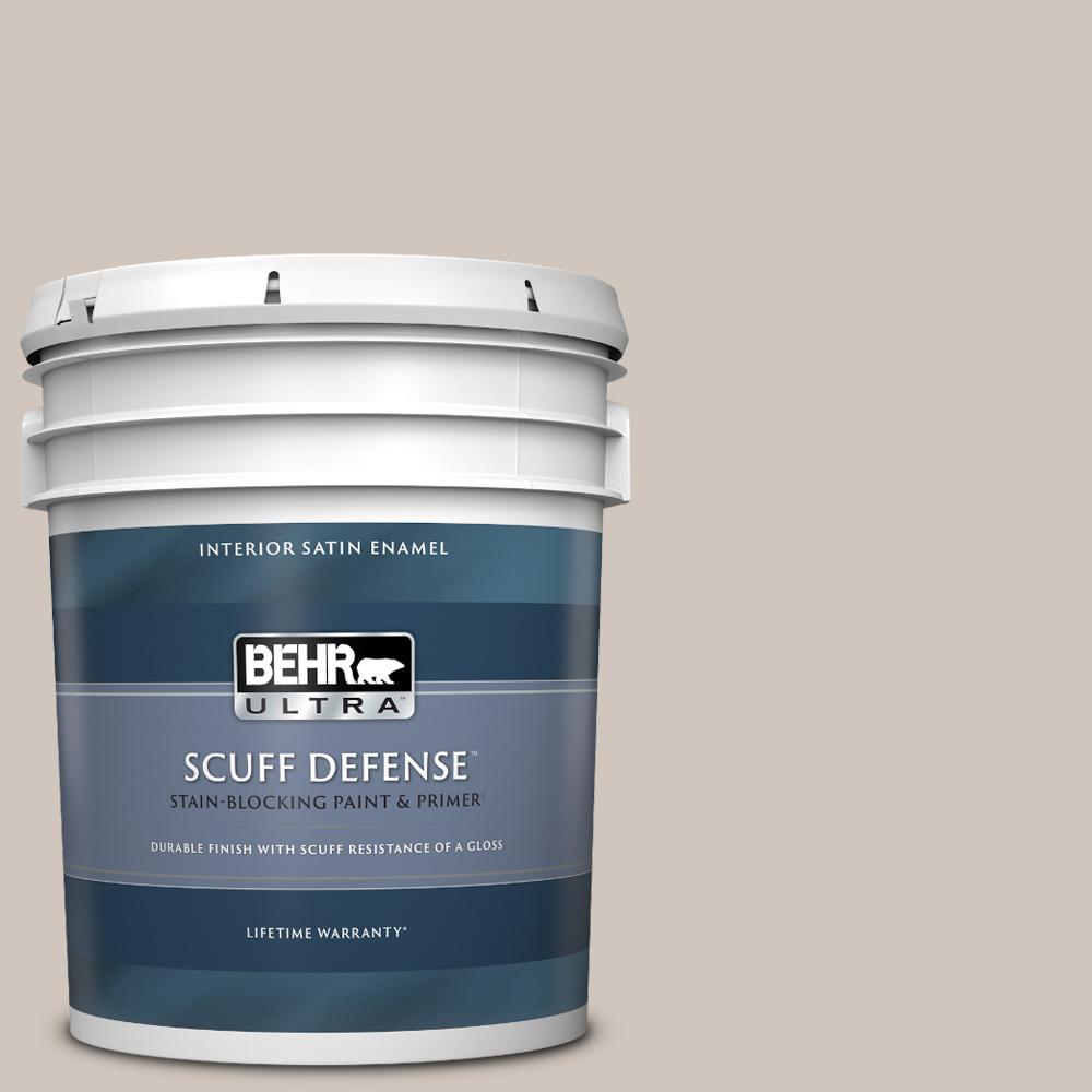 5 gal. #PWN-71 Smoked Umber Extra Durable Satin Enamel Interior Paint & Primer