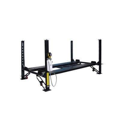 4-Post Automotive Deluxe Storage Lift 8,000 lb. Capacity with Casters, Drip Trays and Jack Tray