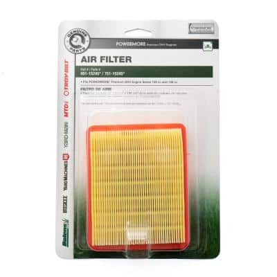 Air Filter for Troy-Bilt 159cc and 196cc Premium OHV Engines OE# 751-15245