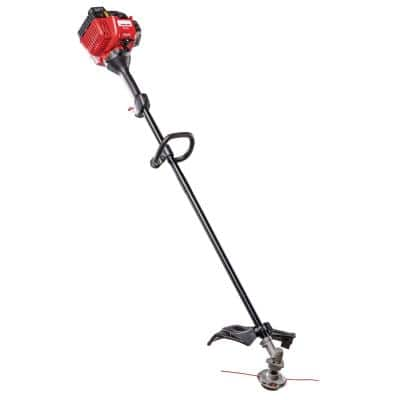 25 cc Gas 2-Cycle Straight Shaft Trimmer with Fixed Line Trimmer Head