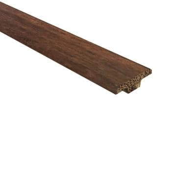 Strand Woven Bamboo Charlestone .362 in. Thick x 1.25 in Wide x 72 in. Length Bamboo T Molding