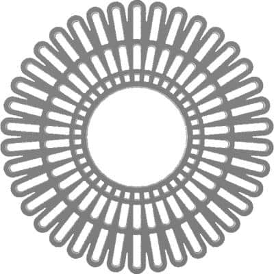 20 in. O.D. x 7-1/2 in. I.D. x 1/2 in. P Cornelius Architectural Grade PVC Peirced Ceiling Medallion