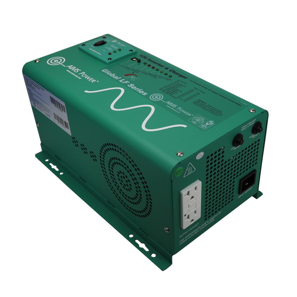 1,250-Watt Pure Sine Inverter Charger 12-Volt DC to 120-Volt AC