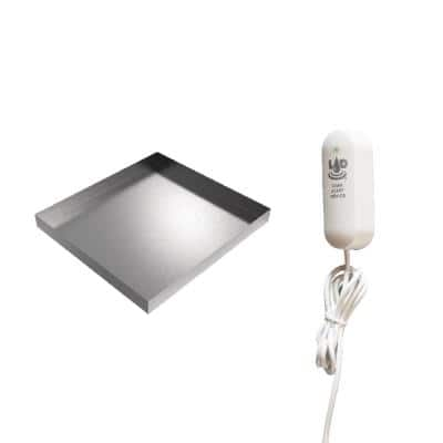 27 in. x 25 in. x 2.5 in. Stainless Steel Compact Washer Drip Pan with LAD