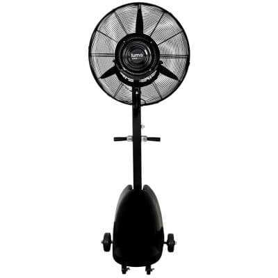 Powerful 26 in. 3-Speed Durable Oscillating Outdoor Misting Fan with Water Tank for Patio Backyard - Black