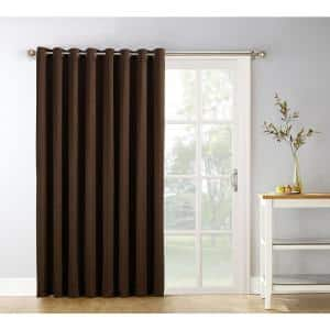 Chocolate Thermal Extra Wide Blackout Curtain - 100 in. W x 84 in. L