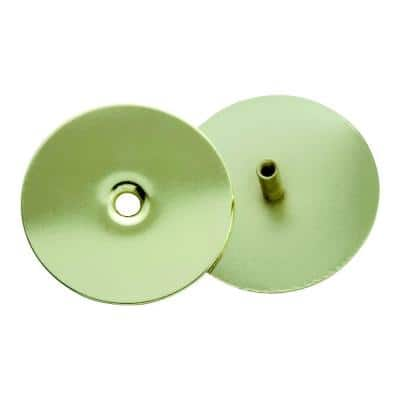 2-5/8 in. Polished Brass Door Hole Cover