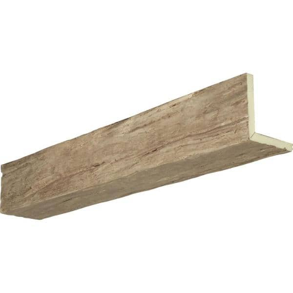 Ekena Millwork 12 In X 10 In X 10 Ft 2 Sided L Beam Riverwood Natural Pine Faux Wood Beam Bmrw2c0100x120x120pp The Home Depot