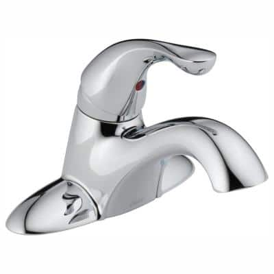 Classic 4 in. Centerset Single-Handle Bathroom Faucet in Chrome