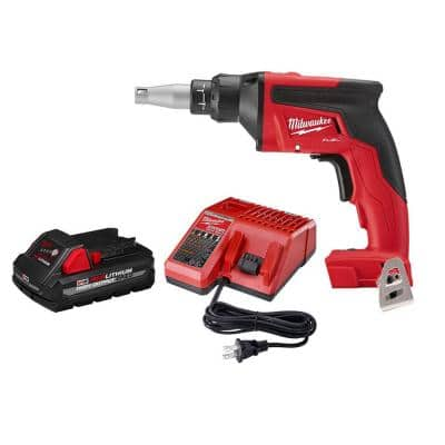 M18 FUEL 18-Volt Lithium-Ion Brushless Cordless Drywall Screw Gun W/ 3.0Ah Battery and Charger