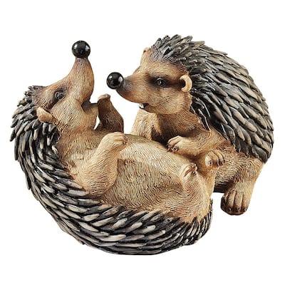 5.5 in. H Hyper Hedgehogs Garden Statue
