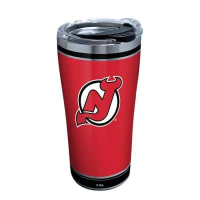 NHL New Jersey Devils Shootout 20 oz. Stainless Steel Tumbler with Lid