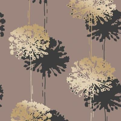 Hamsun Light Brown Dandelion Paper Strippable Wallpaper (Covers 56.4 sq. ft.)