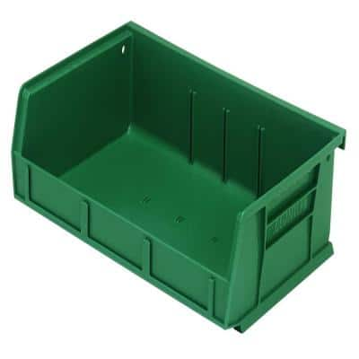 Ultra-Series 1.0 Gal. Stack and Hang Storage Tote in Green (8-Pack)