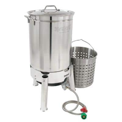 44 qt. Stainless Steel Boil and Steam Cooker Kit
