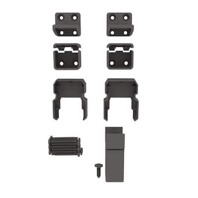 VersaRail Classic Matte Bronze Aluminum Line Bracket Kit (4-Pack)