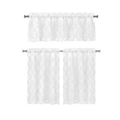 White Polka Dot Rod Pocket Room Darkening Curtain - 56 in. W x 15 in. L (Set of 2)