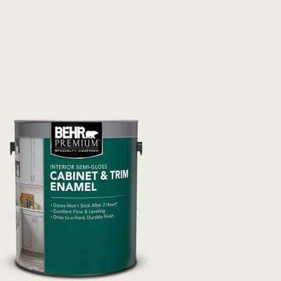 1 gal. #PPU24-14 White Moderne Semi-Gloss Enamel Interior Cabinet and Trim Paint