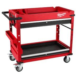 40 in. 2-Drawer Steel Work Cart