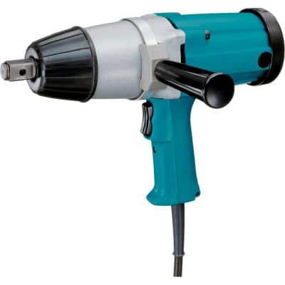 9 Amp 3/4 in. Corded Impact Wrench with Side Handle and Steel Case