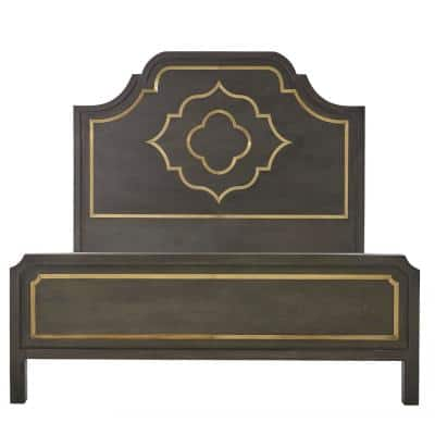 Laila Slate Brown Queen Bed