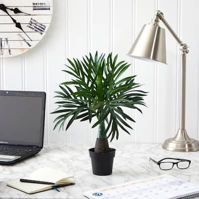 15.5 in. Mini Areca Palm Artificial Plant