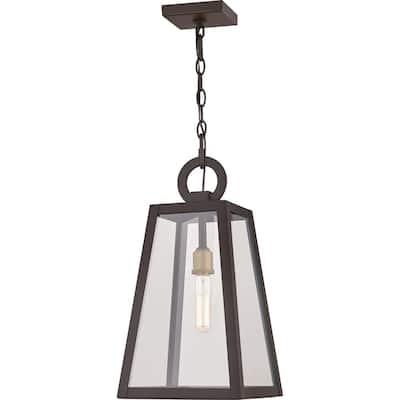 Brockton 1-Light Black Outdoor Pendant Light