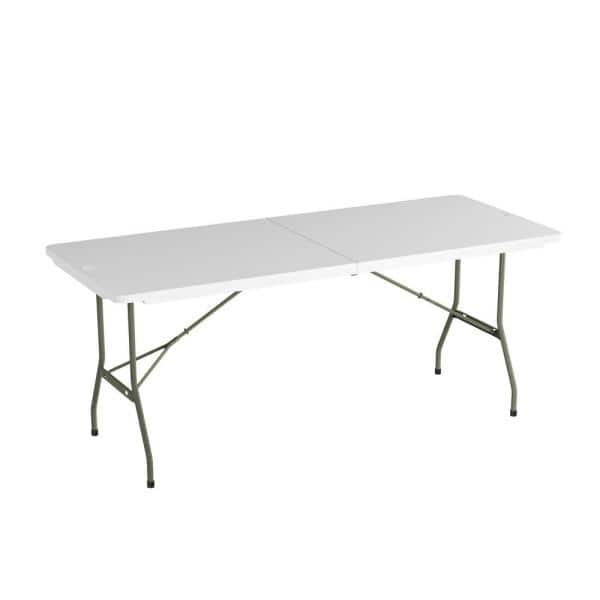 Lavish Home 6 Ft Folding Utility Table With Plastic Tabletop Hw0200289 The Depot