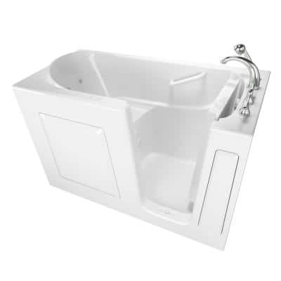 Value Series 60 in. Right Hand Walk-In Whirlpool and Air Bath Bathtub in White