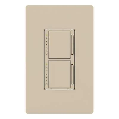 Maestro 300-Watt Single-Pole Dual Dimmer - Taupe