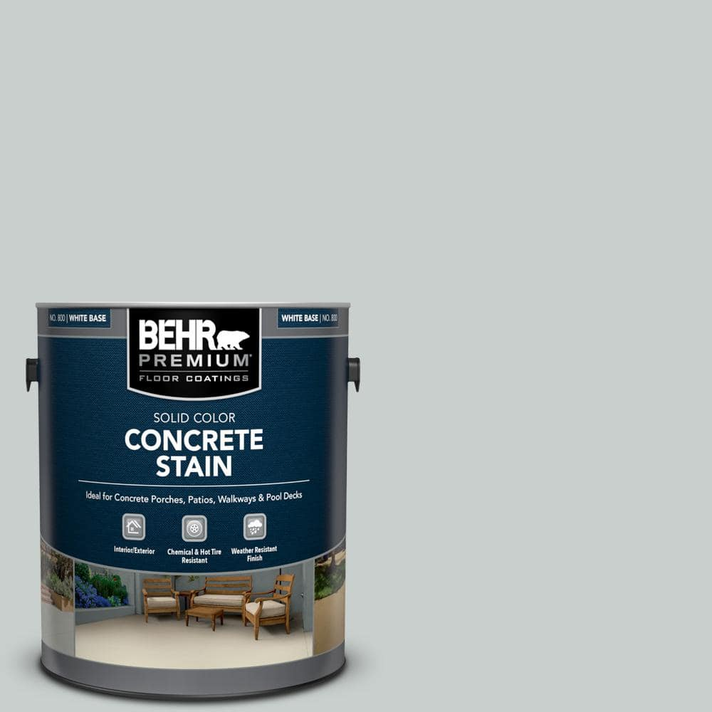 Behr Premium 1 Gal Pfc 61 Foggy Morn Solid Color Flat Interior Exterior Concrete Stain 80001 The Home Depot
