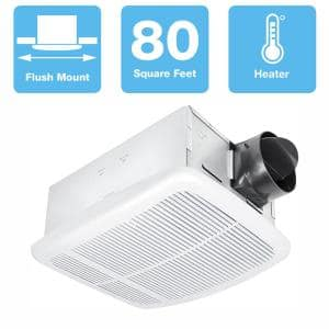 Radiance Series 80 CFM Ceiling Bathroom Exhaust Fan with Heater