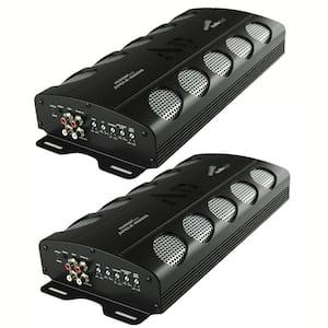 APCLE 1500-Watt Class D 1 Ohm Stable Car Audio Mono Amplifier (2-Pack)