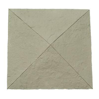 Sandstone 18 in. x 18 in. Gray Faux Polyurethane Stone Column Wrap Cap