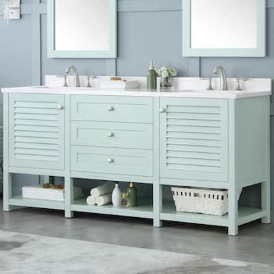 Cottage Bathroom Vanities Bath The Home Depot