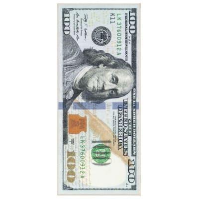 Siesta Kitchen Collection 100 Dollar Bill Design Multi 2 ft. x 4 ft. Runner Rug