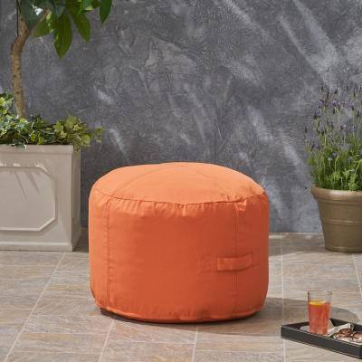Sandy Cay Coral Water Resistant Outdoor Ottoman Pouf