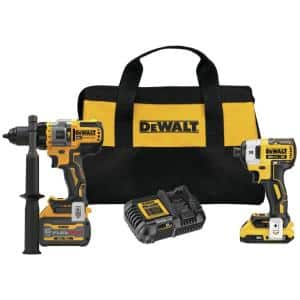 20-Volt MAX Cordless Brushless Hammer Drill/Driver Combo Kit with FLEXVOLT ADVANTAGE (2-Tool)
