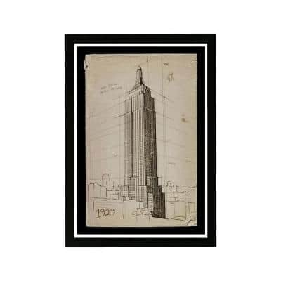 """""""Empire State Building 1929"""" Framed Architecture and Buildings Art Print 19 in. x 13 in."""