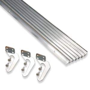 4 in. x 25 ft. Natural Aluminum Gutter with Brackets & Screws - Value Pack of 25 ft.