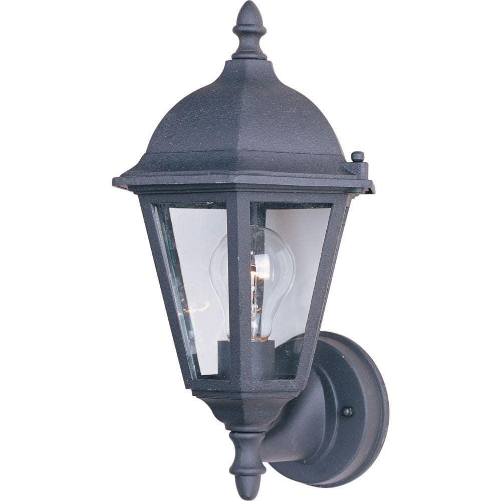 Maxim Lighting Westlake 1 Light Black Outdoor Wall Lantern Sconce 1002bk The Home Depot