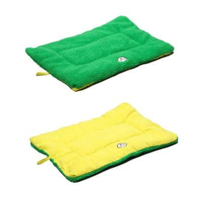 Eco-Paw Large Yellow and Green Reversible Pet Bed