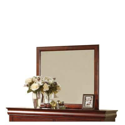 Medium Rectangle Brown Modern Mirror (38.28 in. H x 1 in. W)