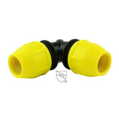 1-1/2 in. IPS DR 11 Underground Yellow Poly Gas Pipe 90-Degree Elbow