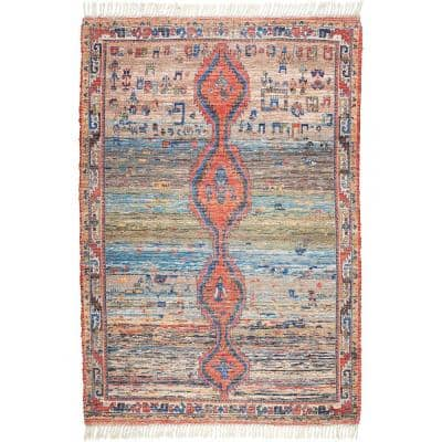 Nuloom Vintage Flatweave Yetta Multi 9 Ft X 12 Ft Area Rug Svin22a 9012 The Home Depot