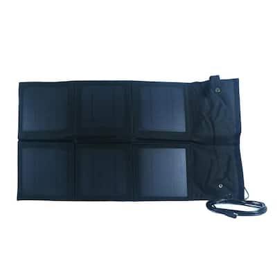 18-Watt Monocrystalline Folding Solar Panel with 8 Amp Charge Controller