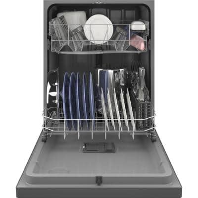 24 in. Stainless Steel Front Control Tall Tub Dishwasher with Steam Cleaning, Dry Boost, and 55 dBA