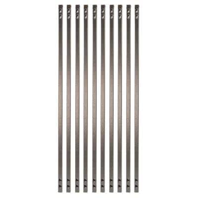 31 in. x 5/8 in. Antique Bronze Steel Square Face Mount Deck Railing Baluster (10-Pack)